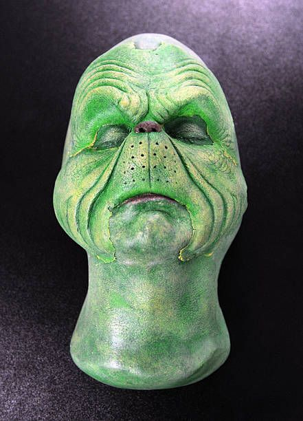 A Makeup Face Cast From The Jim Carrey How Grinch Stole Christmas