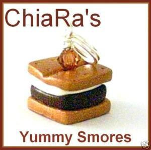 Yummy Smores Polymer Clay Charm by CharmthisClayCharms on Etsy, $3.00