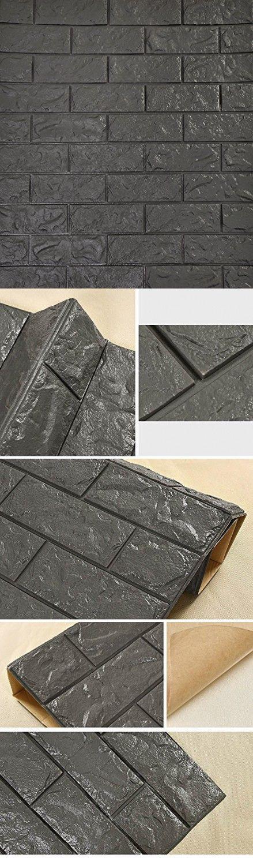 SOOMJ 3D Brick Tile Waterproof Wall Sticker Self-adhesive ...