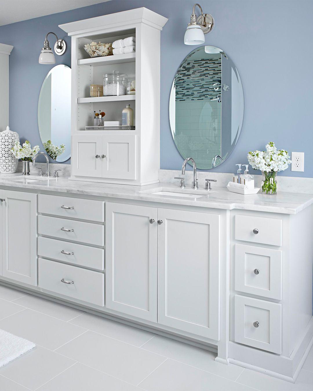 12 Popular Bathroom Paint Colors Our Editors Swear By Best Bathroom Paint Colors Blue Bathroom Blue Bathroom Paint