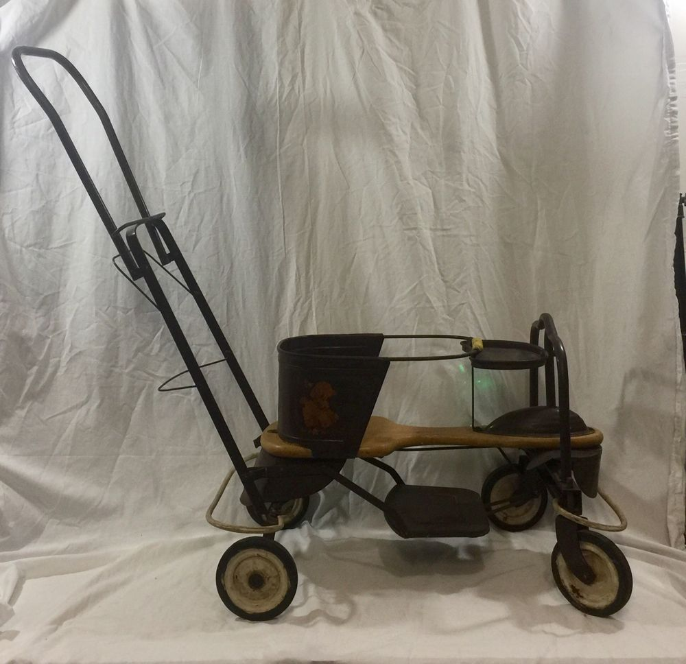 Sunny Vintage Antique Doll Carriage Buggy Old 1940-1950 Latest Technology Stroller