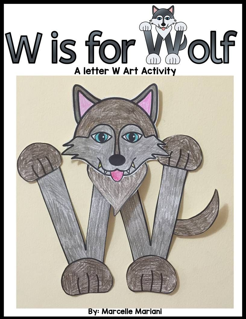 letter w craft template  Letter W art activity Template- W is for Wolf Art activity ...