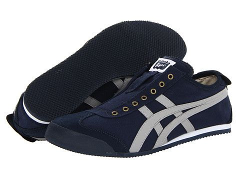 Onitsuka Tiger by Asics Mexico 66® Slip-On Navy Grey - Zappos.com Free  Shipping BOTH Ways 9506bb4c8d710