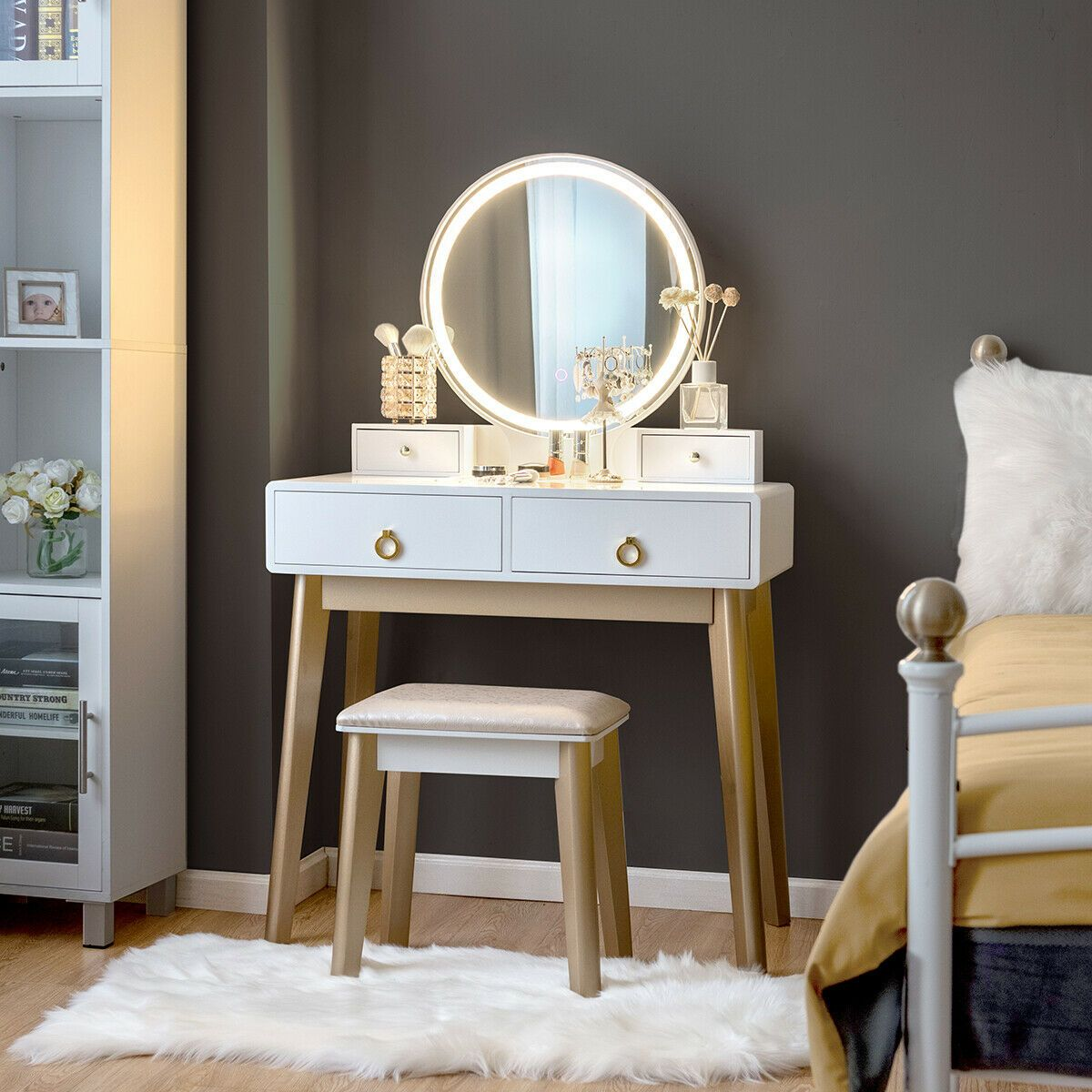 Beautiful Dressing Table Chairs Stools To Add Elegance To Your Vanity In 2020 Vanity Table Set Dressing Table With Chair Vanity Table