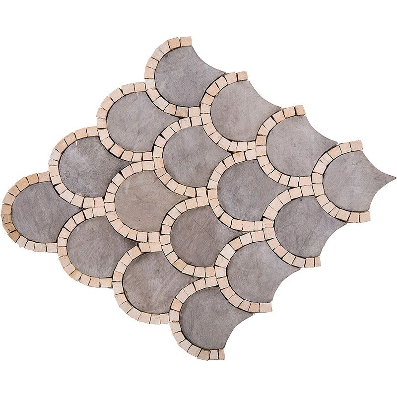 Country Floors Of America Llc: Foussana Honed Scallop Limestone Mosaics 10x10