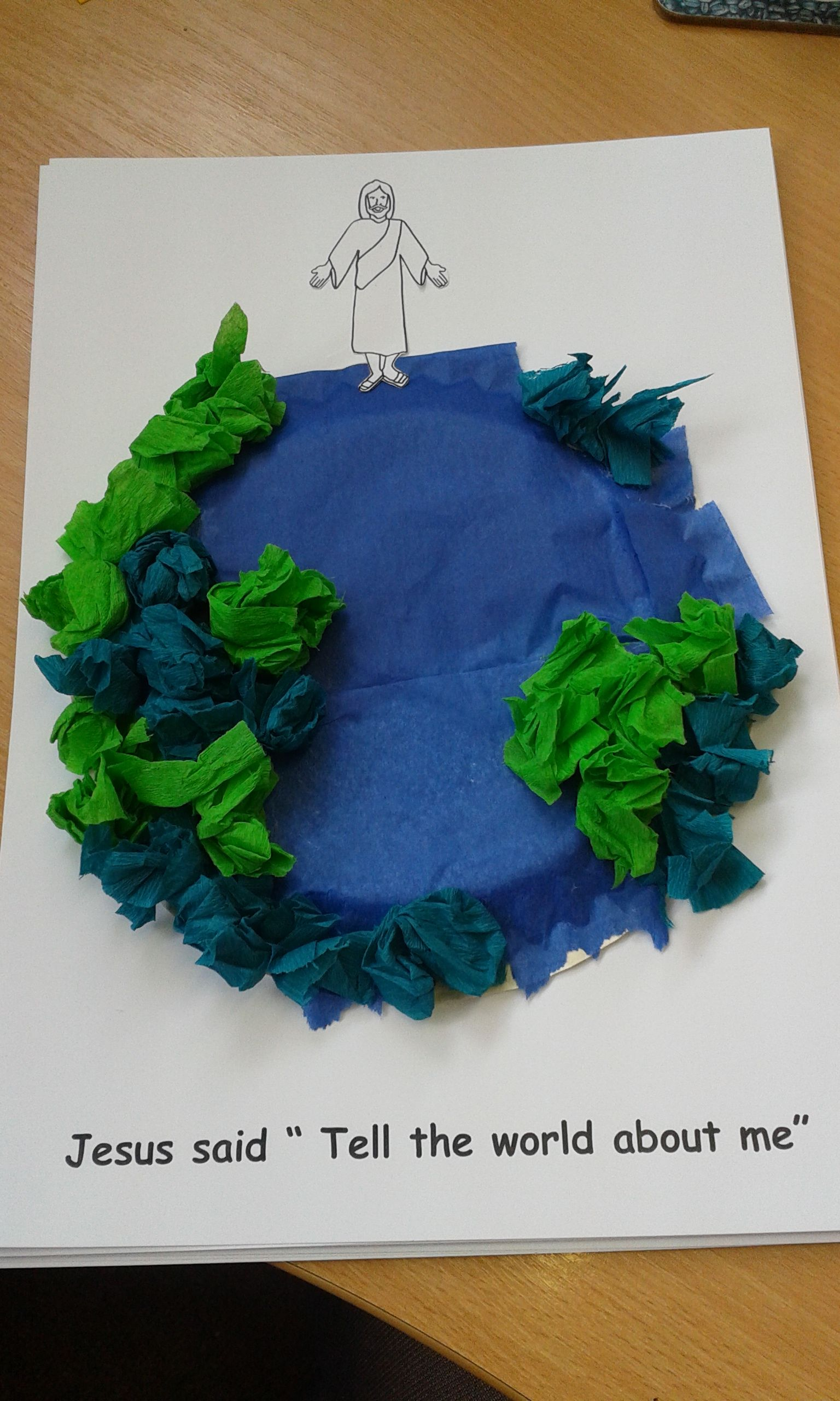Paper Plate Craft For Sunday School Creation Year Of Clean Water