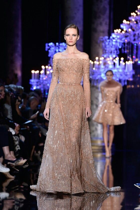 Dress _ Vestido _ Elie Saab _ Alta costura _ Madrinha _ Nude