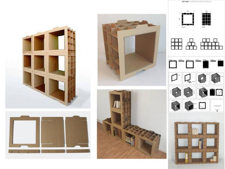 construir muebles con cartones de ikea