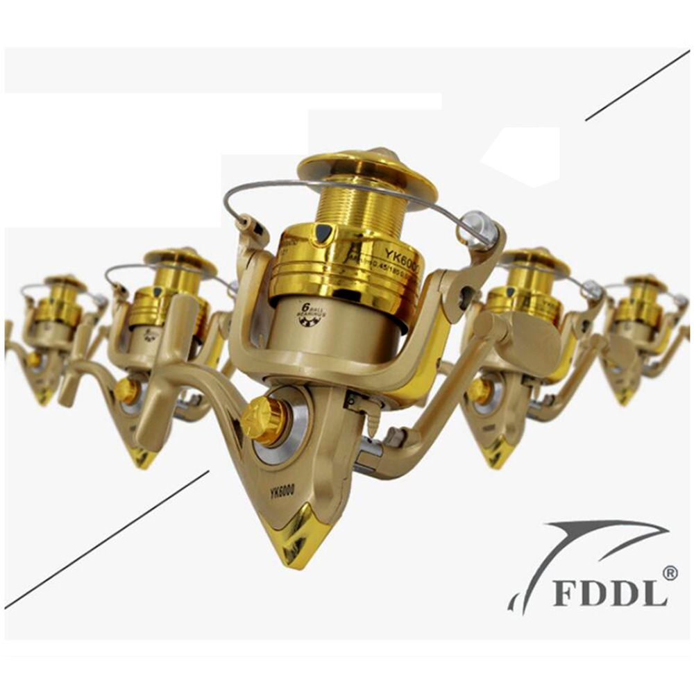2016 High Quality 5.2:1 Electroplate Spinning Fishing Reel Carp Fishing Wheel Spinning Reel for Sea Fishing