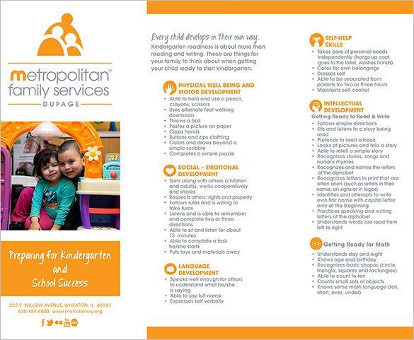 Contoh Brosur TK RA dan PAUD – Kindergarten Brochure Template