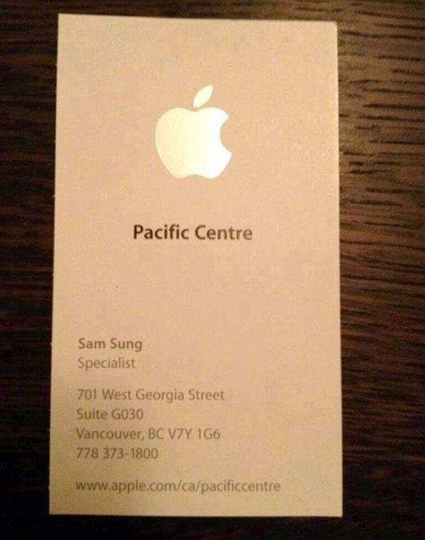 Apple Business Card Templates. three quarters apple brochure ...
