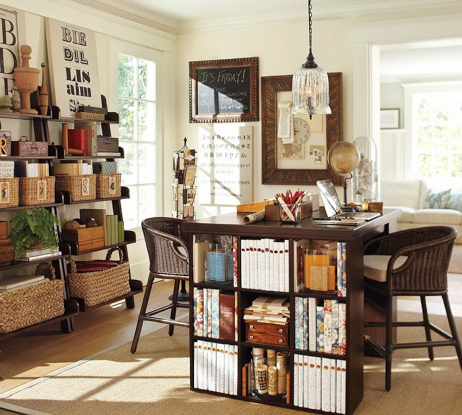 craft room ideas bedford collection. Home Office - Ladder Shelving, Baskets, Cube Storage Craft Room Ideas Bedford Collection