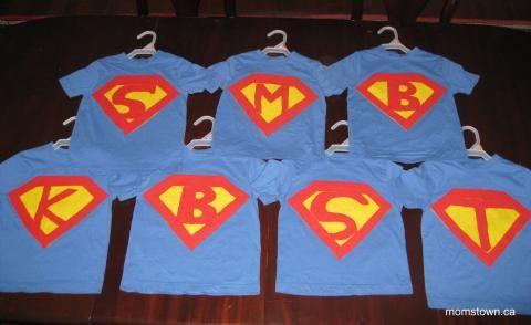 Personalized Super Shirts ...cheaper shirts, felt and fabric glue