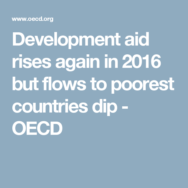 Development Aid Rises Again In But Flows To Poorest Countries - Most poorest country 2016