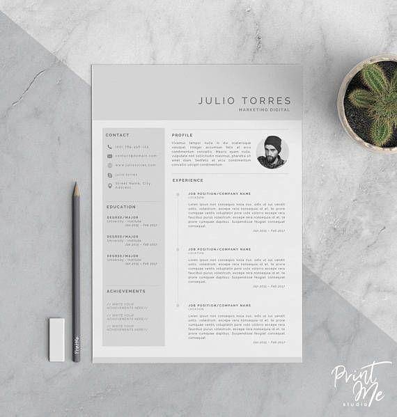 Plantilla CV Plain - Plain Resume Template   Resume - CV ...