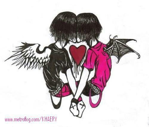 Amor De Emos 3 Dibujos Arte Emo Emo