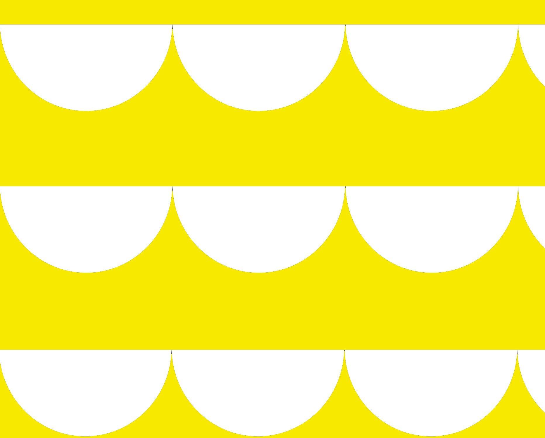 Metsola: Puuvillakangas (aallot, keltainen) 150 cm leveä - Kankaat - Lasten Metsola Oy verkkokauppa