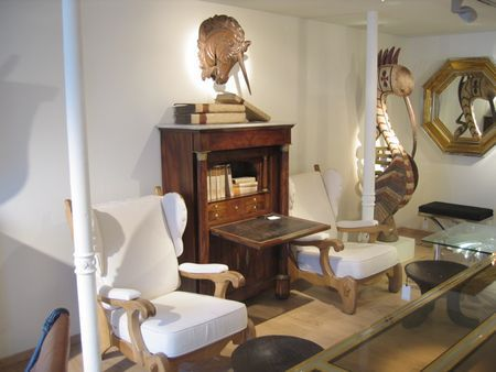 Good mix of antiques and modern