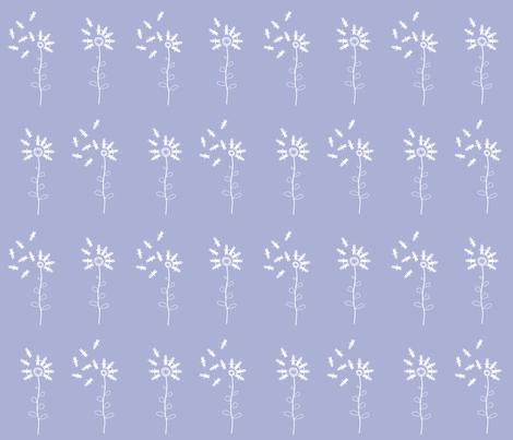 bunny dandelion pale lavender fabric by hugo_lamarox on Spoonflower - custom fabric