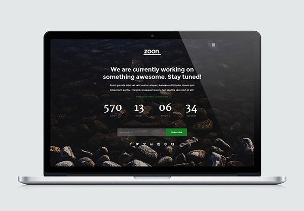 Free Coming Soon Page Html5 Template Zoon Template