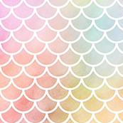 Best Pastel Rainbow Watercolor Scale Pattern 1 By Raccoongirl 400 x 300