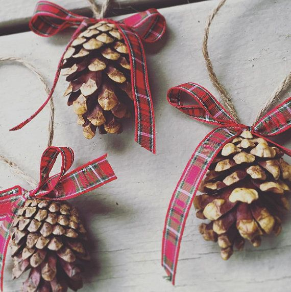 Pine Cone Christmas Ornaments by AdorablyAllie on Etsy