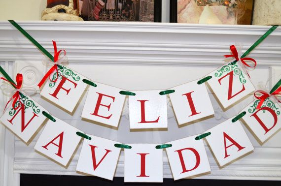 feliz navidad banner christmas banner spanish christmas decoration christmas garland bunting holiday garland merry christmas banner feliznavidad