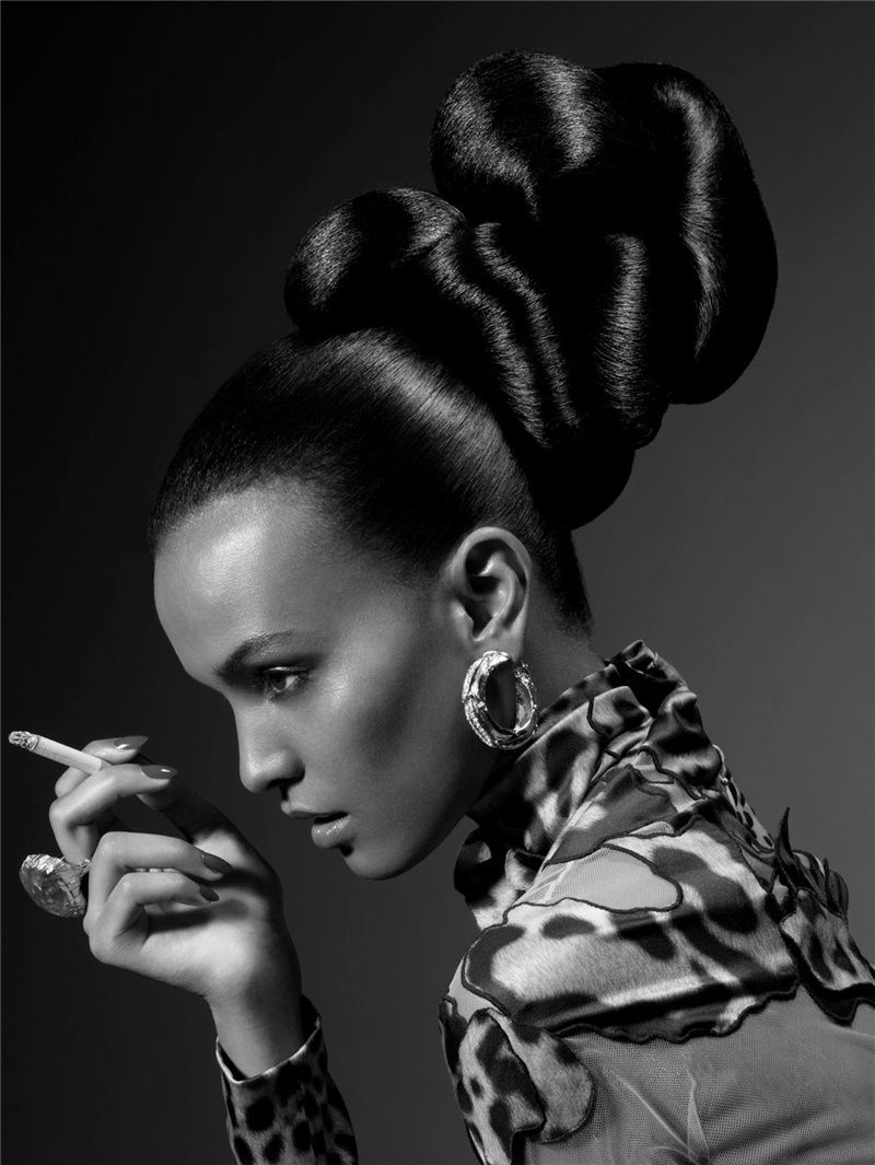 Liya Kebede by Sølve Sundsbø for Vogue Japan January 2008. #fashion #hair