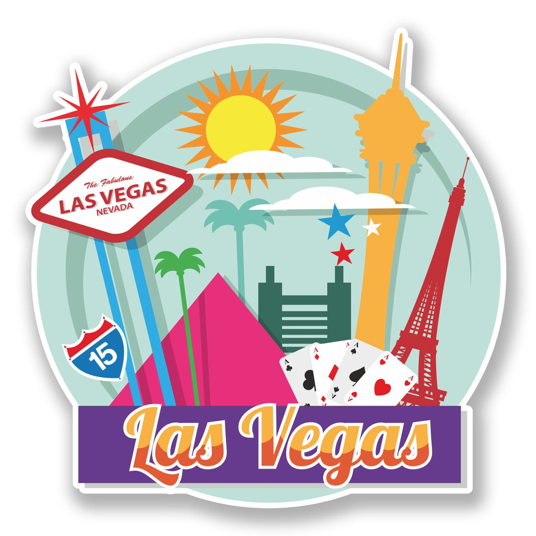 1.99 GBP - 2 X 10Cm Las Vegas Nevada Usa Vinyl Sticker Ipad Laptop ...