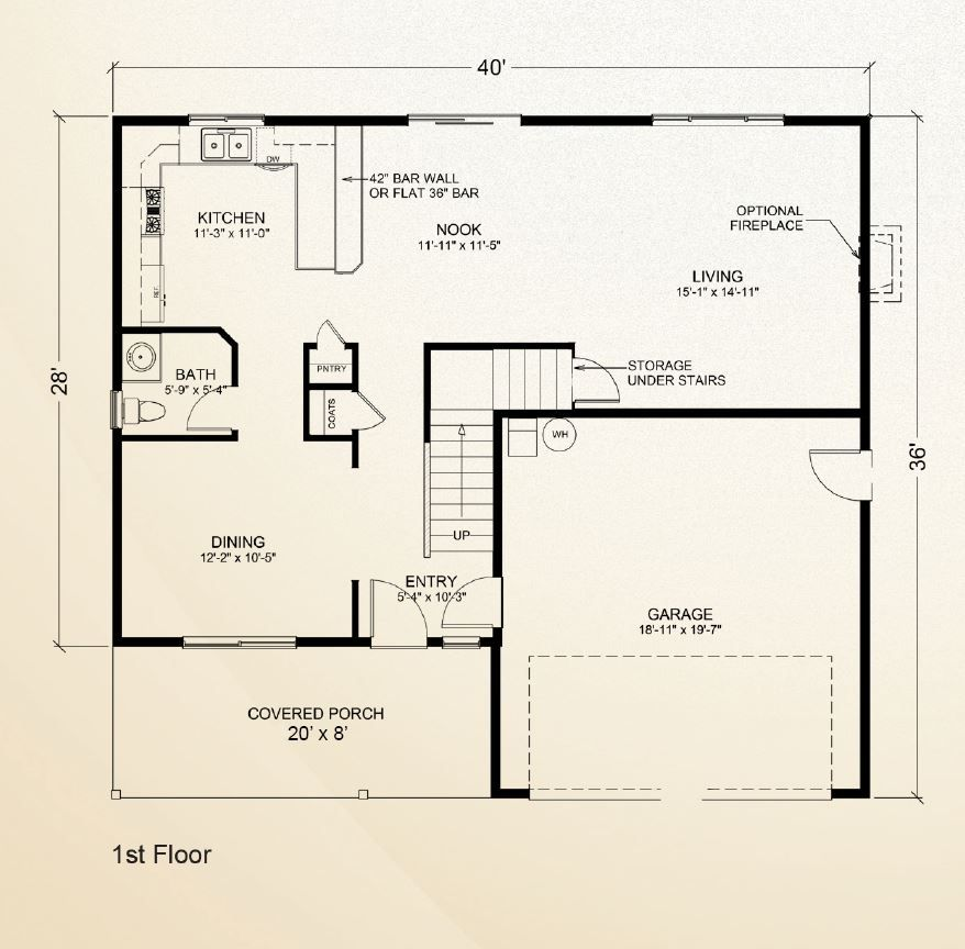 Stillwater first floor multilevel home true built for Adu floor plans