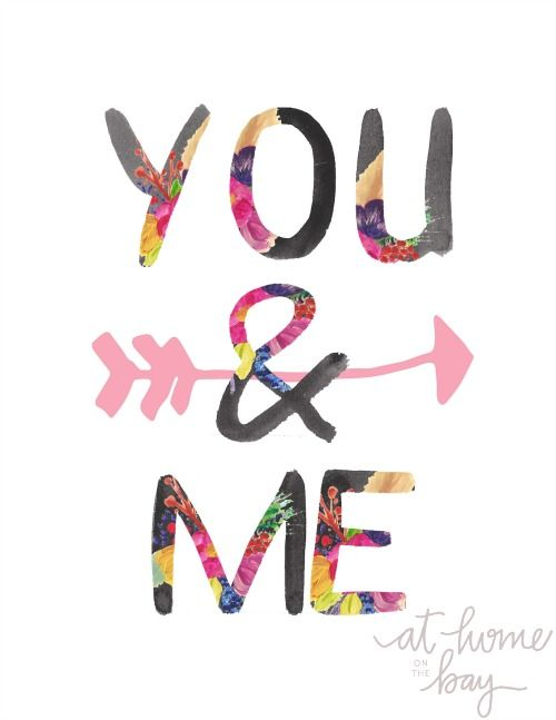 You & Me Free Printable - frame it and it's the perfect gift!