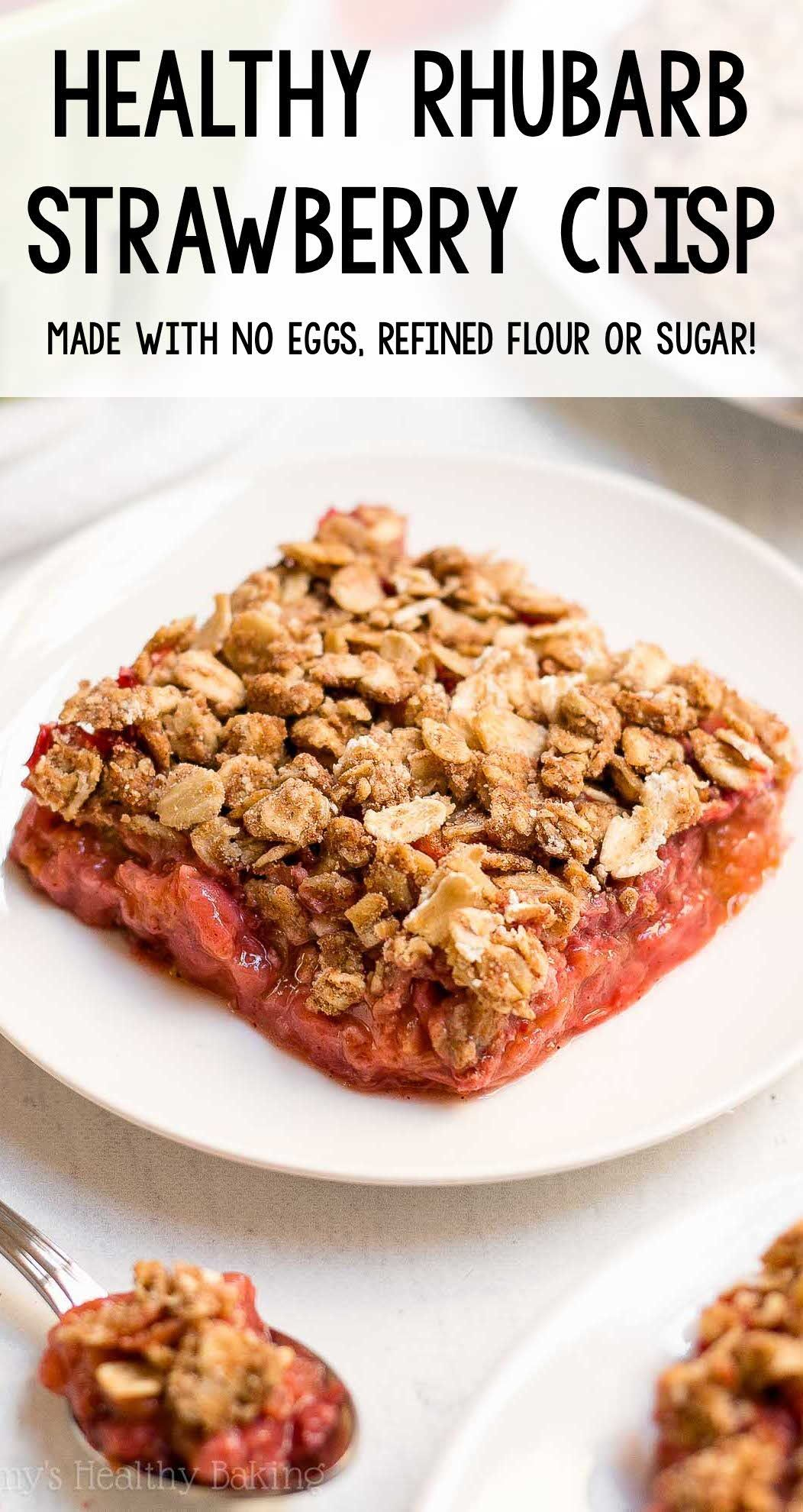 The Ultimate Healthy Strawberry Rhubarb Crumble In 2020 Healthy Rhubarb Recipes Healthy Strawberry Strawberry Rhubarb Crumble