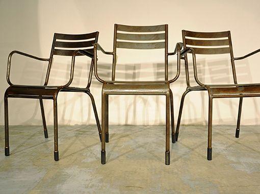 Interior design recupero sedie in ferro sedie originali for Sedie originali
