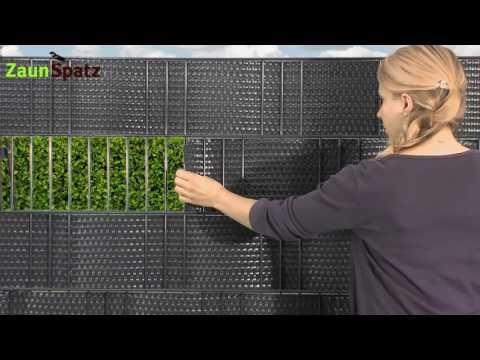 Zaunblende für Zäune Rattan ZaunSpatz24.de YouTube