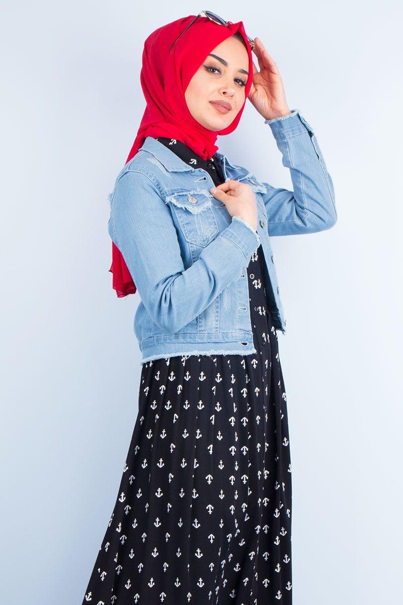 Pazarium Tesettur Kot Ceket Modelleri Moda Tesettur Giyim Kot Ceket Kotlar Moda