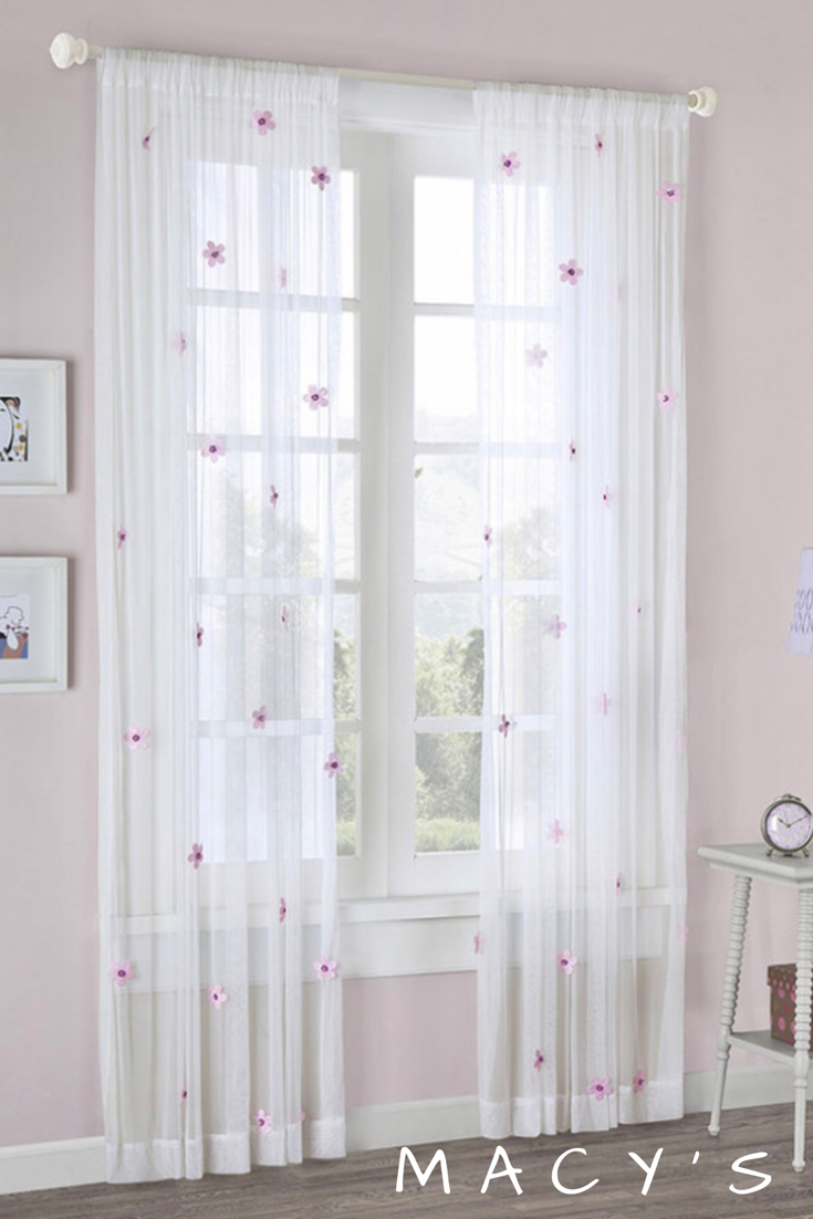 These Would Be So Cute In My Daughters Room Sheer Curtains With Flowers