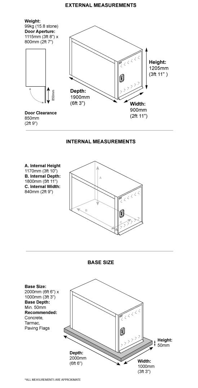 Twin Bike Locker Dimensions
