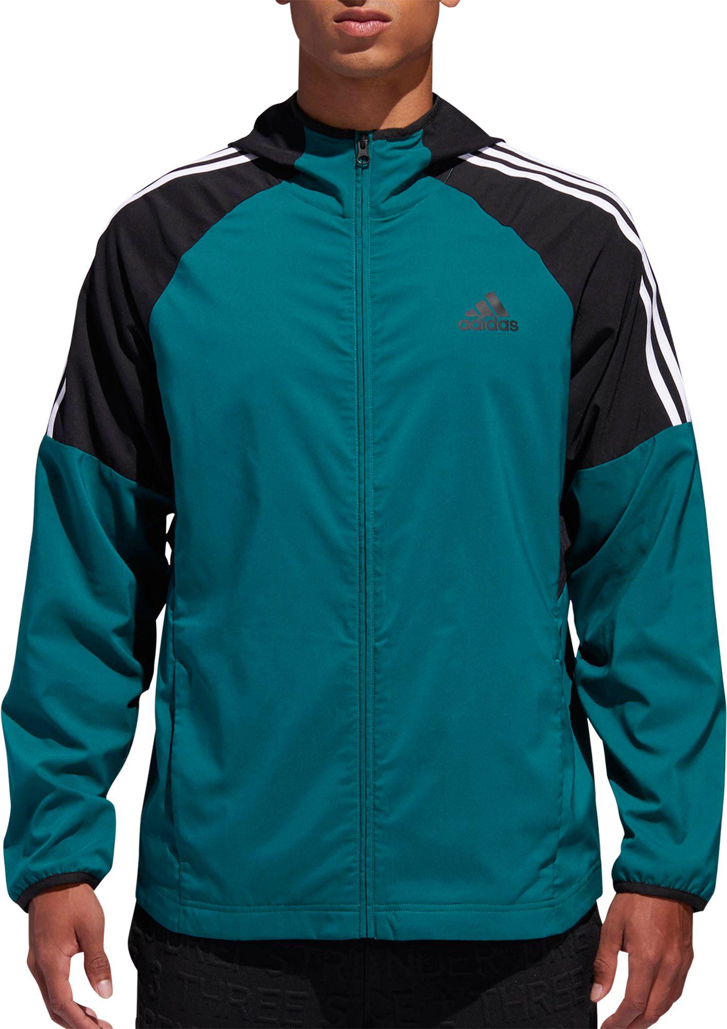 a65397aaf adidas Men's Sport Id 3-Stripe Windbreaker Jacket, Size: XXL, Green