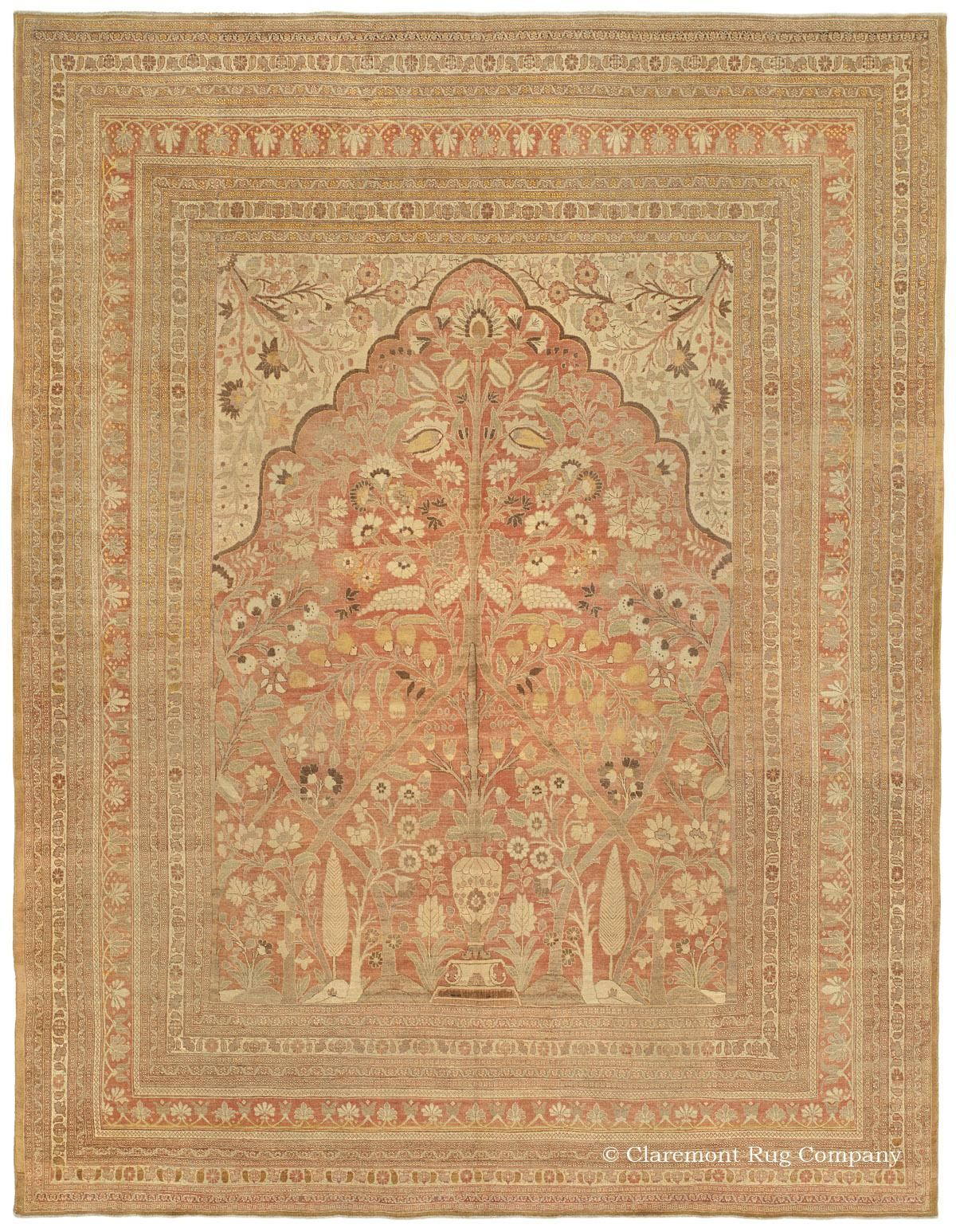 Hadji Jallili Haji Jalili Tabriz Garden Of Paradise 9ft 3in X 11ft 9in 3rd Quarter 19th Century Persian Rug Designs Rugs On Carpet Antique Oriental Rugs