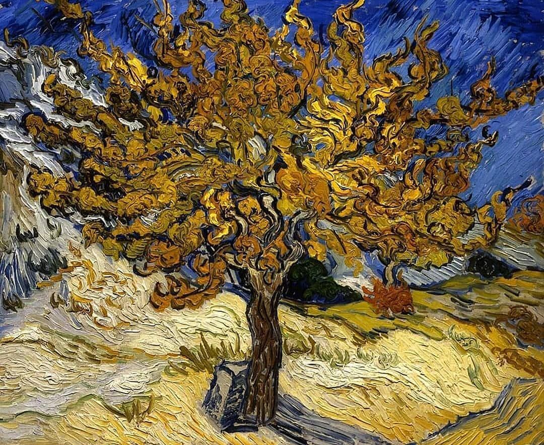 "Van Gogh Foundation on Instagram: ""Vincent van Gogh - The Mulberry Tree, 1889 (54 x 65 cm)  #beautiful #instaart #instaartsy #instaartwork #instaartist #instaartpop…"""