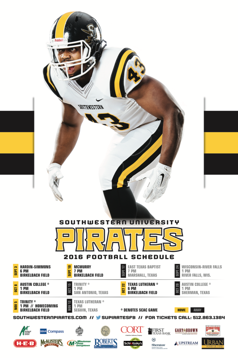 Southwestern Texas Football Schedule Poster Sports Graphic Design Texas Football Football Program