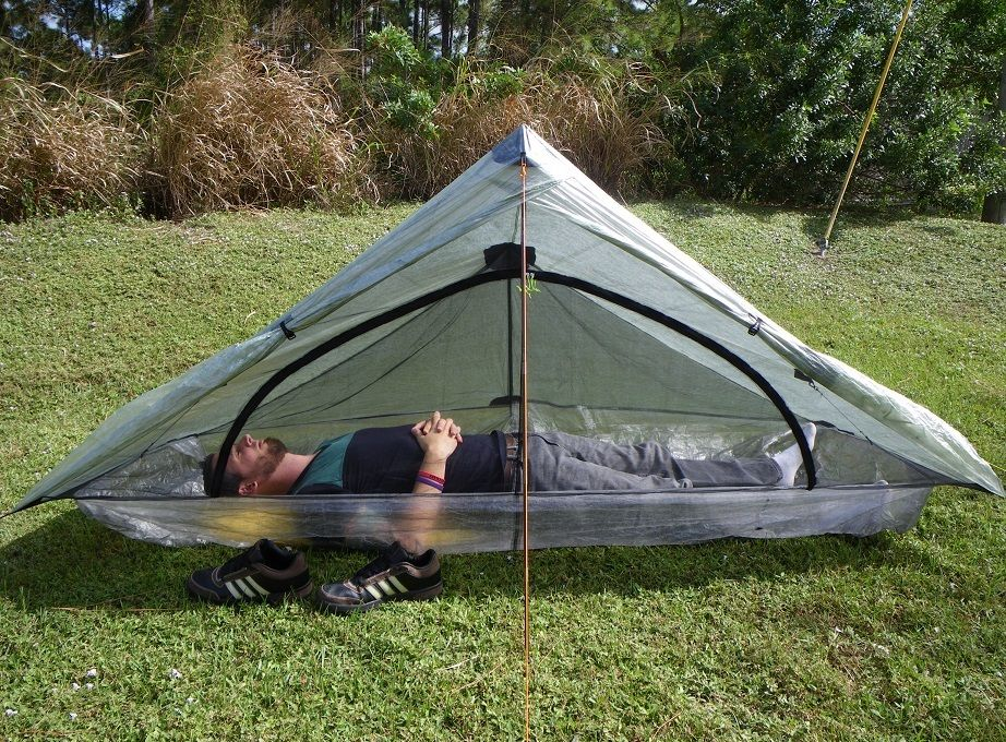 One Person Trekking Pole Tent Ultralight Camping Trekking Backpacking Tent