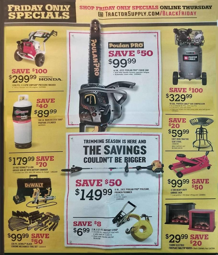 Tractor Supply Black Friday 2018 Ads And Deals Browse The Tractor Supply Black Friday 2018 Ad Scan And The Complete Prod Black Friday Tractor Supplies Tractors