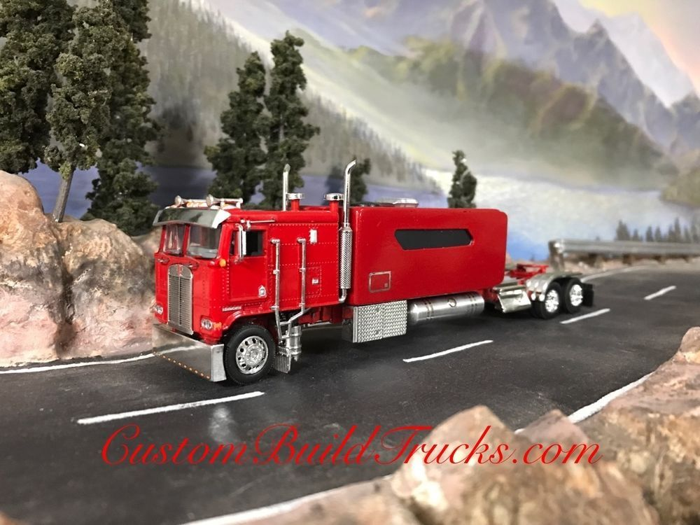 Custom Dcp Cabover Kenworth K100 With Big Sleeper Red 1 64