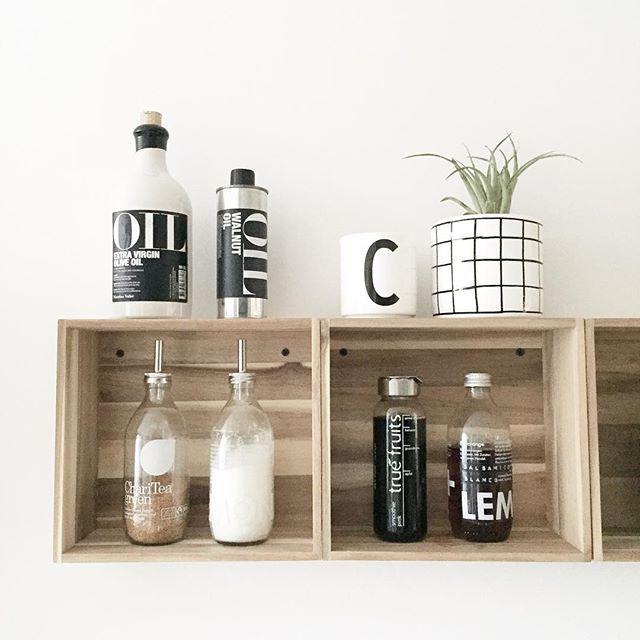 Wandregal ikea küche  Wandregal] ↠ IKEA-Hack Skogsta Holzkisten ♡ | Küche | Pinterest ...