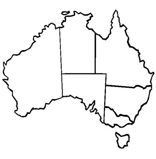 World Map, : World Map of Australia Coloring Page | Social studies ...