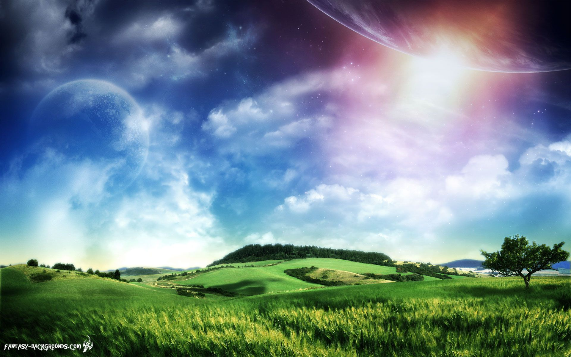 mystical fantasy pictures | fantasy, earth, background, above