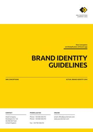 Square guideline brand template Brand identity, Template and - sample quality manual template