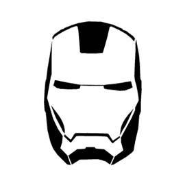 Remarquable Iron Man Mask Stencil | Iron man mask, Iron man helmet, Iron man WD-97