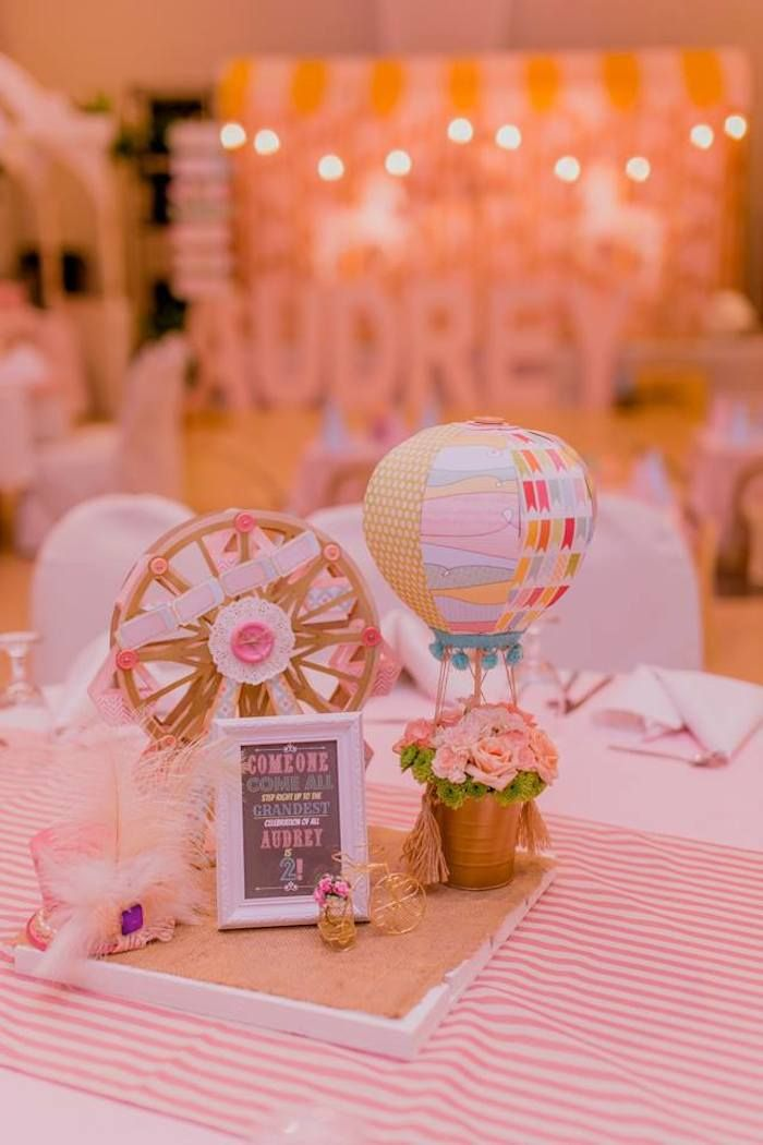 Pastel Vintage Carnival Themed Birthday Party | K's 2nd ...